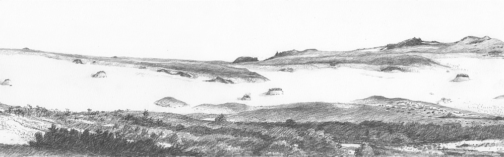 Five Mounds in a Sand Plain