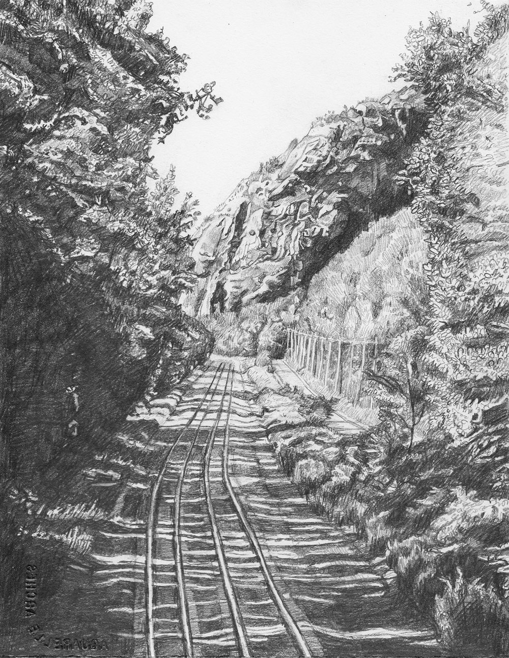 Ridge over Tracks