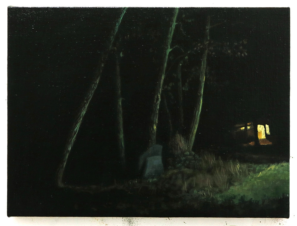 Four Trees at Night