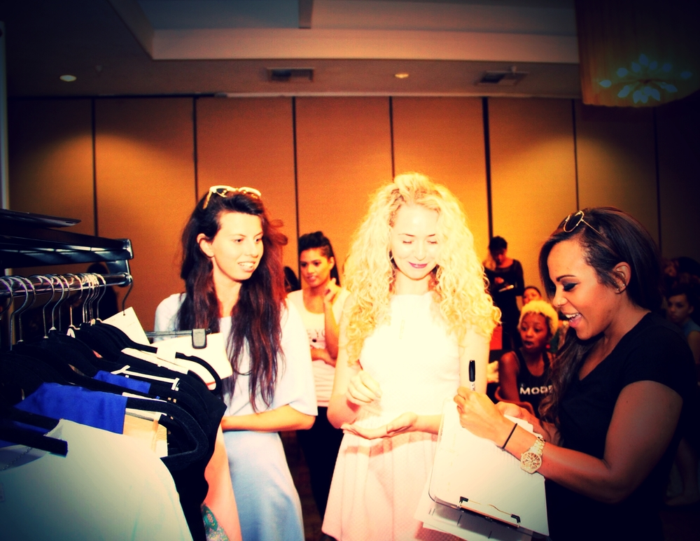from l to r alice rep anastasiia fashion designer kayla - Fashion Production Manager