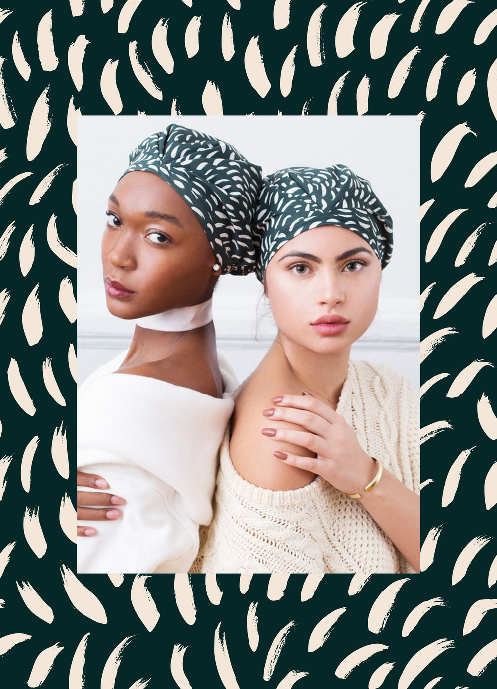 Vote for The Covet SHHHOWERCAP. It's a waterproof turban made of a nanotech fabric in a chic turban silhouette. T