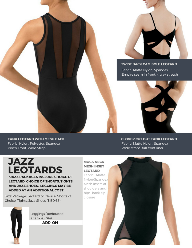 Jazz Leotards 5-7 Yrs.