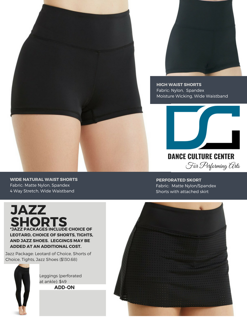 Jazz Shorts 5-7 Yrs.