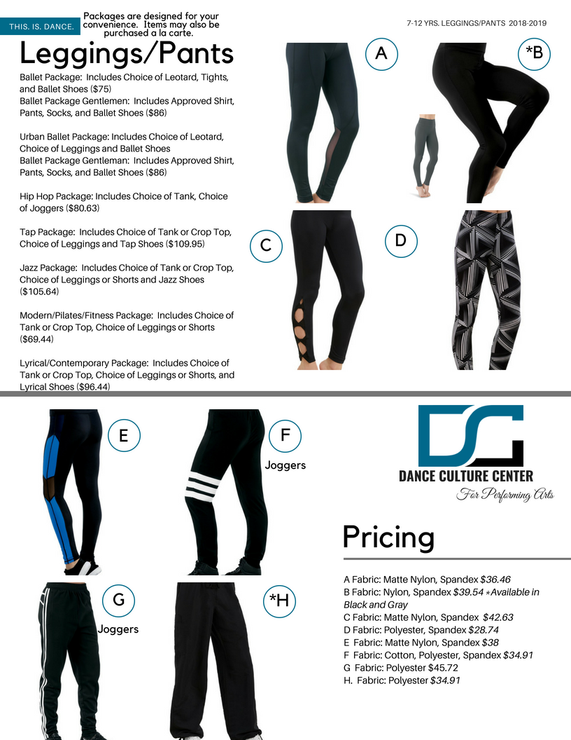 Leggings/Pants 7-12 Yrs.