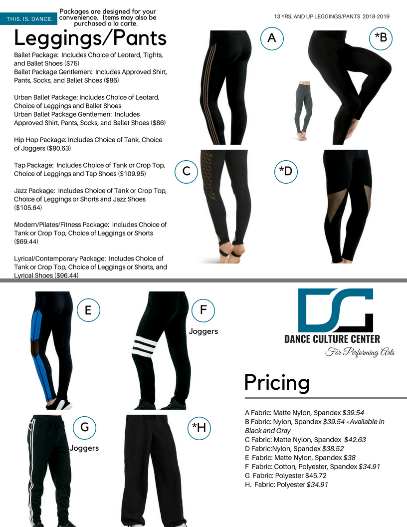 Leggings/Pants 13-18 Yrs.