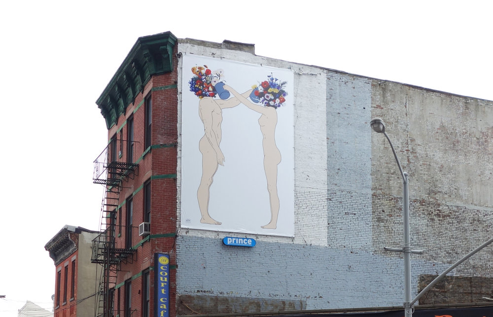 Art on Billboards in NYC. Thanks to Prince Media.