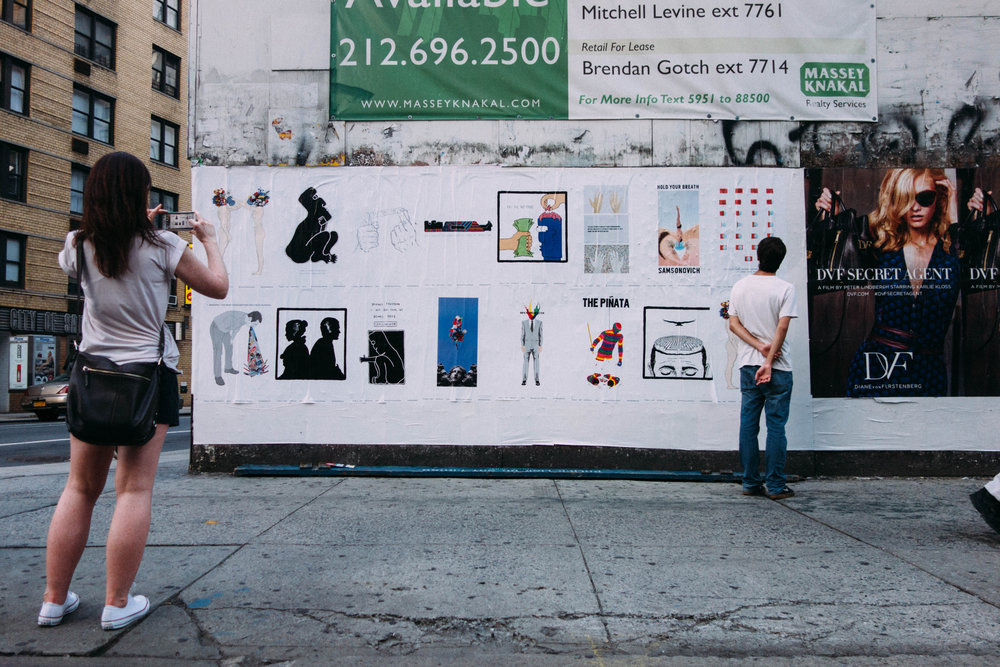 Self-funded advertising campaign replacing ads with art for 1 month 100 locations around Manhattan and Brooklyn. Read and See more