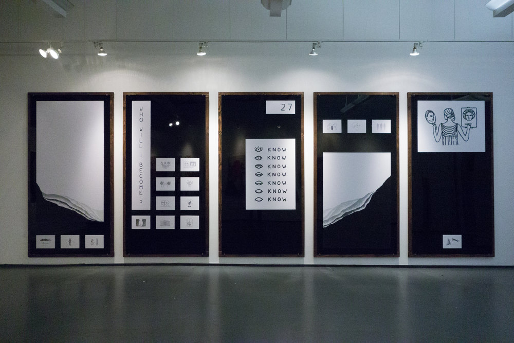 Black plexi-glass and wood. Group show in TriBeCa.  More photos here .