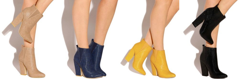 Wild Knockout - Nude, Navy, Canary, Black $34.99