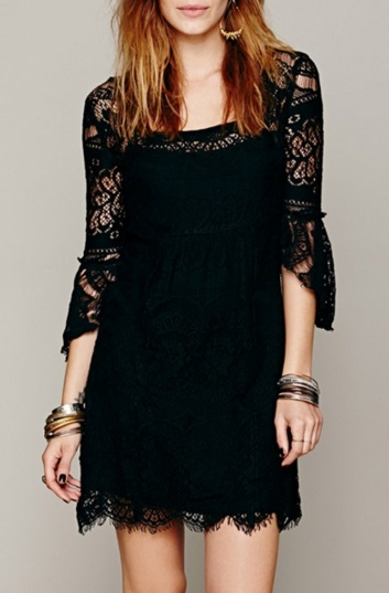 Chic Hollow Out Scalloped Lace Dress - Original Price $34.99 (SALE Price $21.99)