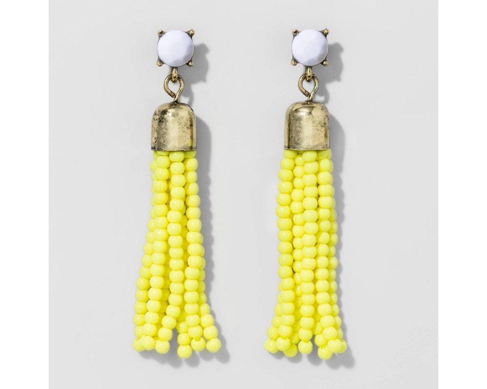 SUGARFIX by BaubleBar™ Beaded Tassel Drop Earrings