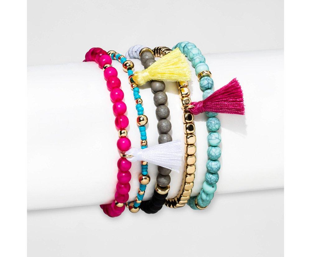 SUGARFIX by BaubleBar™ Multicolor Beaded Bracelet Set of Five