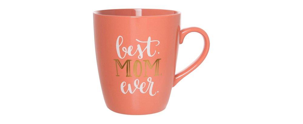 "Clay Art Jumbo Mug 27oz Porcelain - ""Best Mom Ever"""