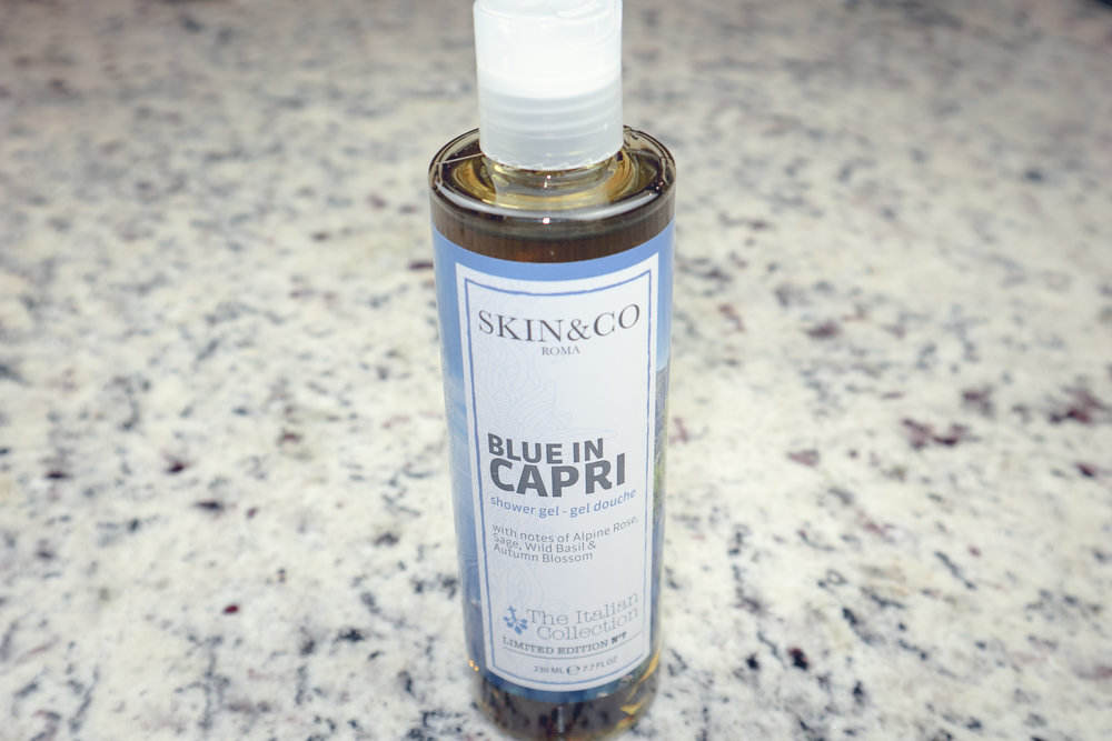 SKIN&CO ROMA BLUE IN CAPRI ($22) - Yep, it's already a part or my shower routine, and I LOVE it!
