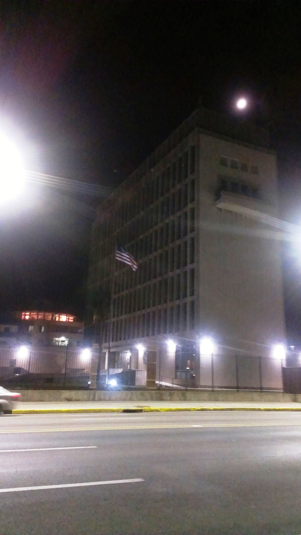 The newly anointed US Embassy in Havana.