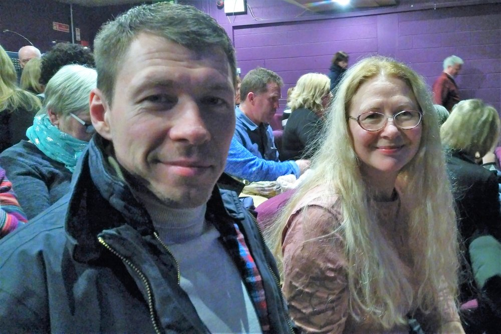 Stan and Lyuba at the concert.