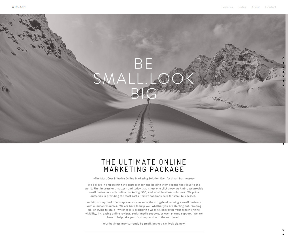Argon Website Design
