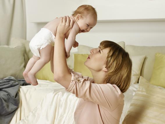 Sarah Gottschalk mit Tochter Wilma