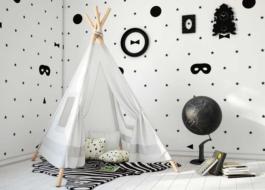 Black & White // Kreative Einrichtungsideen fürs Kinderzimmer