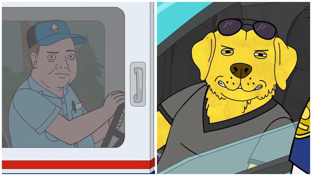 Mr Peanutbutter vs The Mailman. ©Copyright: Netflix
