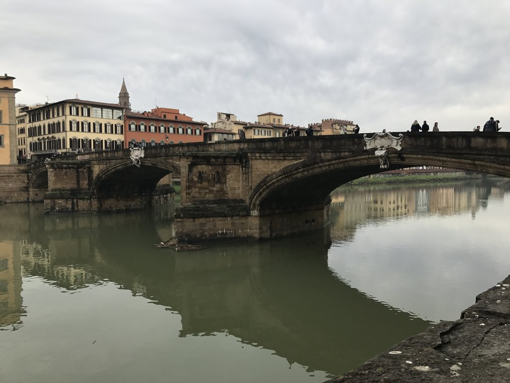 Firenze's Ponte Vecchio. All images in the article are provided by Briannah Devlin.