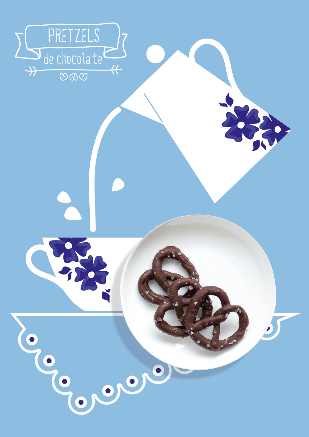 Pretzel de chocolate