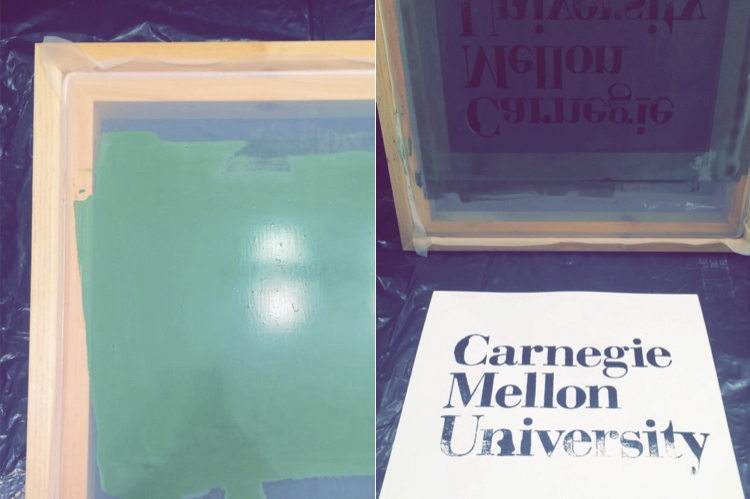 Screenprinting! I've been wanting to do this for a while, so I was really excited I finally had some time to learn. Even though I messed up the bottom part, I was so happy it actually worked, and I knew what to do better for the next one.