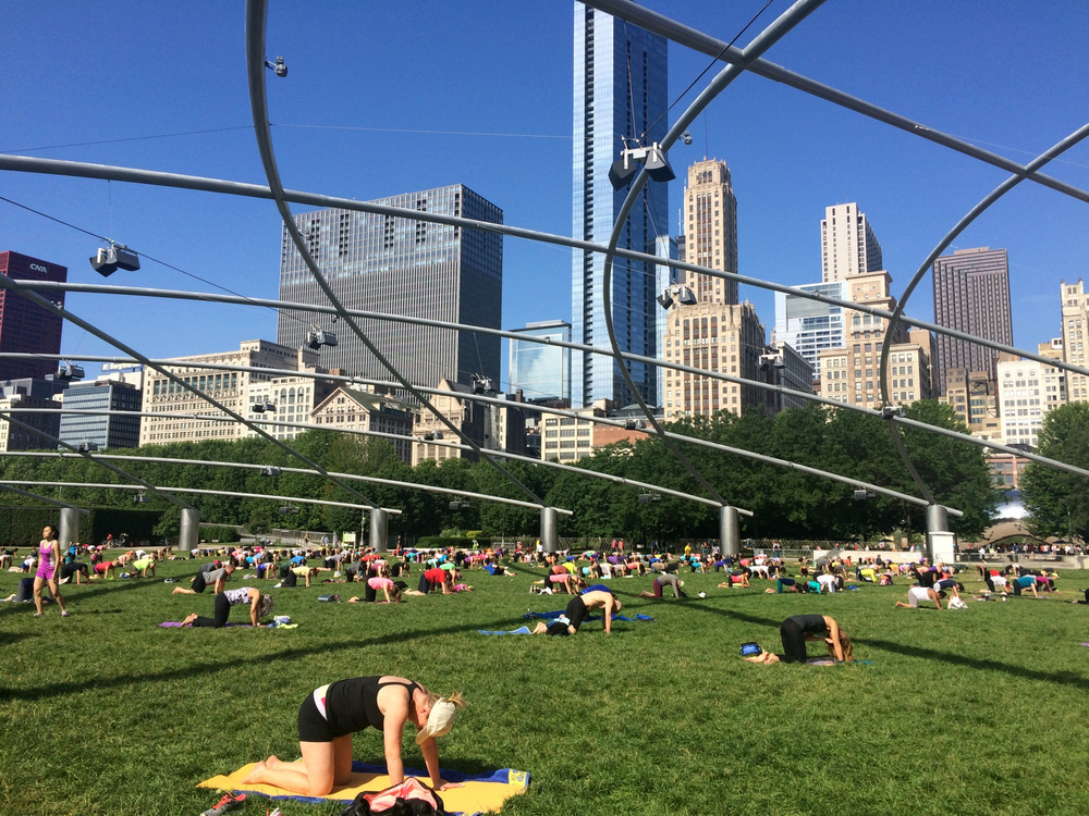 Free yoga in Millenium Park every summer.