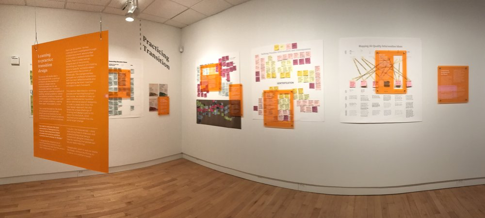 Exhibition of some of the research mapped throughout the process.