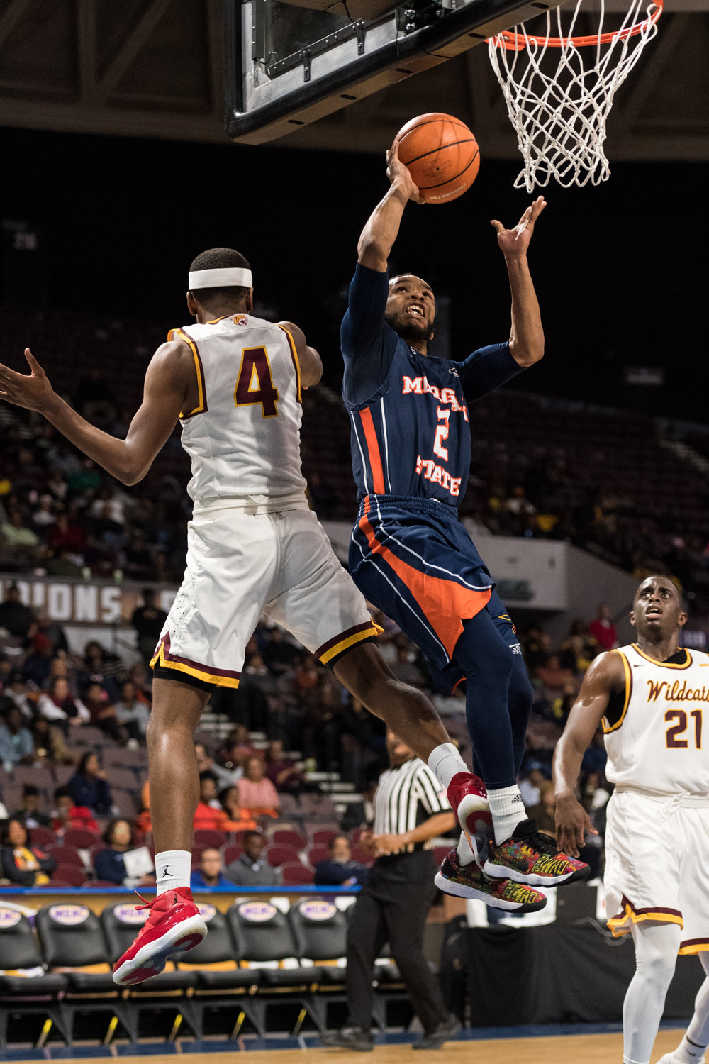 Bethune-Cookman Wildcats guard Isaiah Bailey (2) goes up for a shot against the Bethune-Cookman Wildcats during the Wednesday, March 7, 2018 game held at Norfolk Scope Arena.