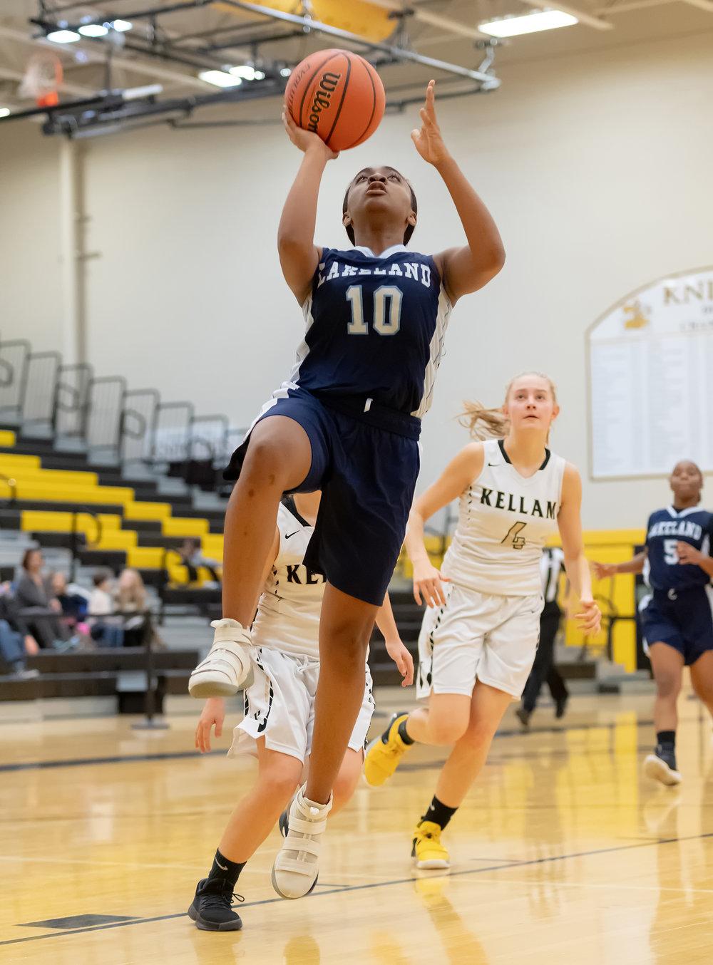Game action from Lakeland vs Kellam girls basketball held on Thursday, November 29, 2018 at Kellam High School in Virginia Beach. Kellam defeated Lakeland 45 to 41.