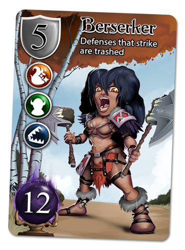 Berserker Hero Card