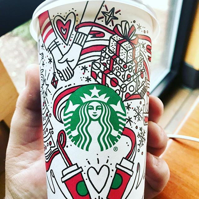 Beautiful cup design this year. #starbucks