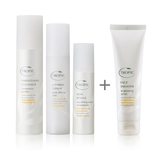 A bestselling collection of botanically enriched daily essentials to nourish all skin types.  BUY NOW   £52 This collection contains: • smoothing cleanser (120ml) • bamboo face cloth • vitamin toner (120ml) • skin revive (50ml) • face smooth (100ml)
