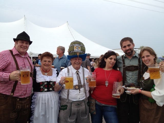 With Mr and Mrs Oktoberfest