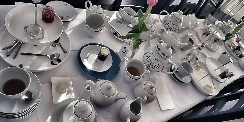 """Take Some More Tea - """"I suppose I ought to eat or drink something or other; but the great question is 'What?'"""""""