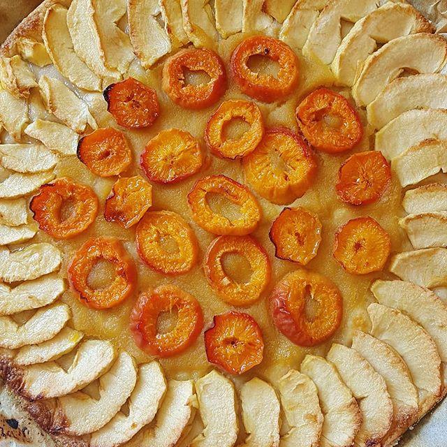 Le ciel est gris donc le soleil est dans l'assiette aujourd'hui ☀️ . . . . . #tarte #homemade #patisserie #dessert #foodporn #cake #instagood #yummy #pastry #instafood #summer #food #faitmaison #pie #sweet #abricot #pomme #picoftheday #foodie #foodblogger #foodphotography #delicious #tasty