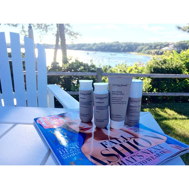 All of the perfect Cape essentials. Beat the humidity with these @livingproofinc products and get a good read by the shore with @harpersbazaarus !! Awesome R&R at the moment. #bostonblogger #bostonbloggers #bostonbloggersummer #discoveraround #fashion #fblogger #summerstyle #livingproof