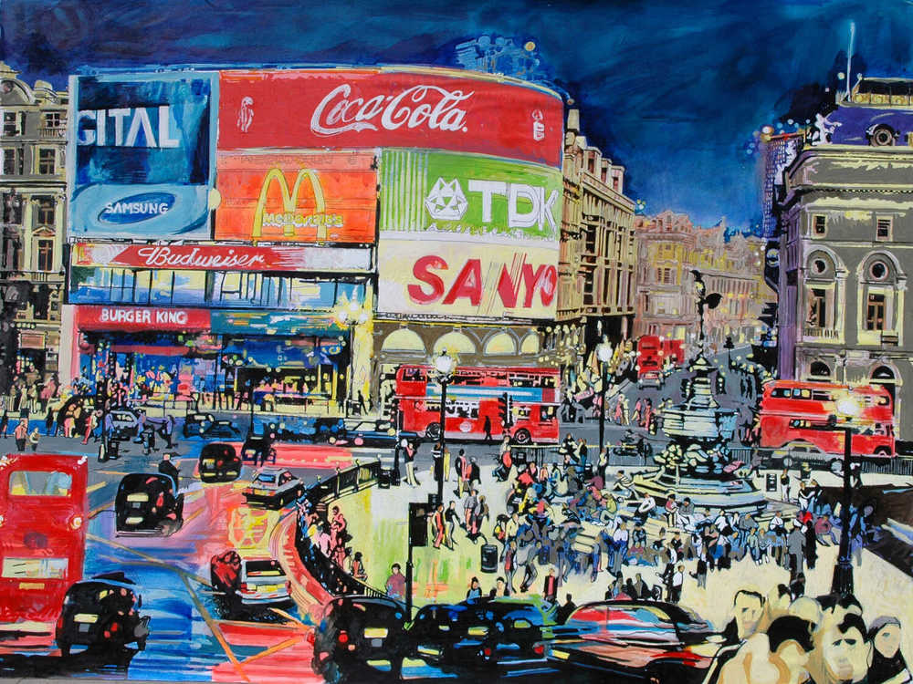 Piccadilly Circus rush hour