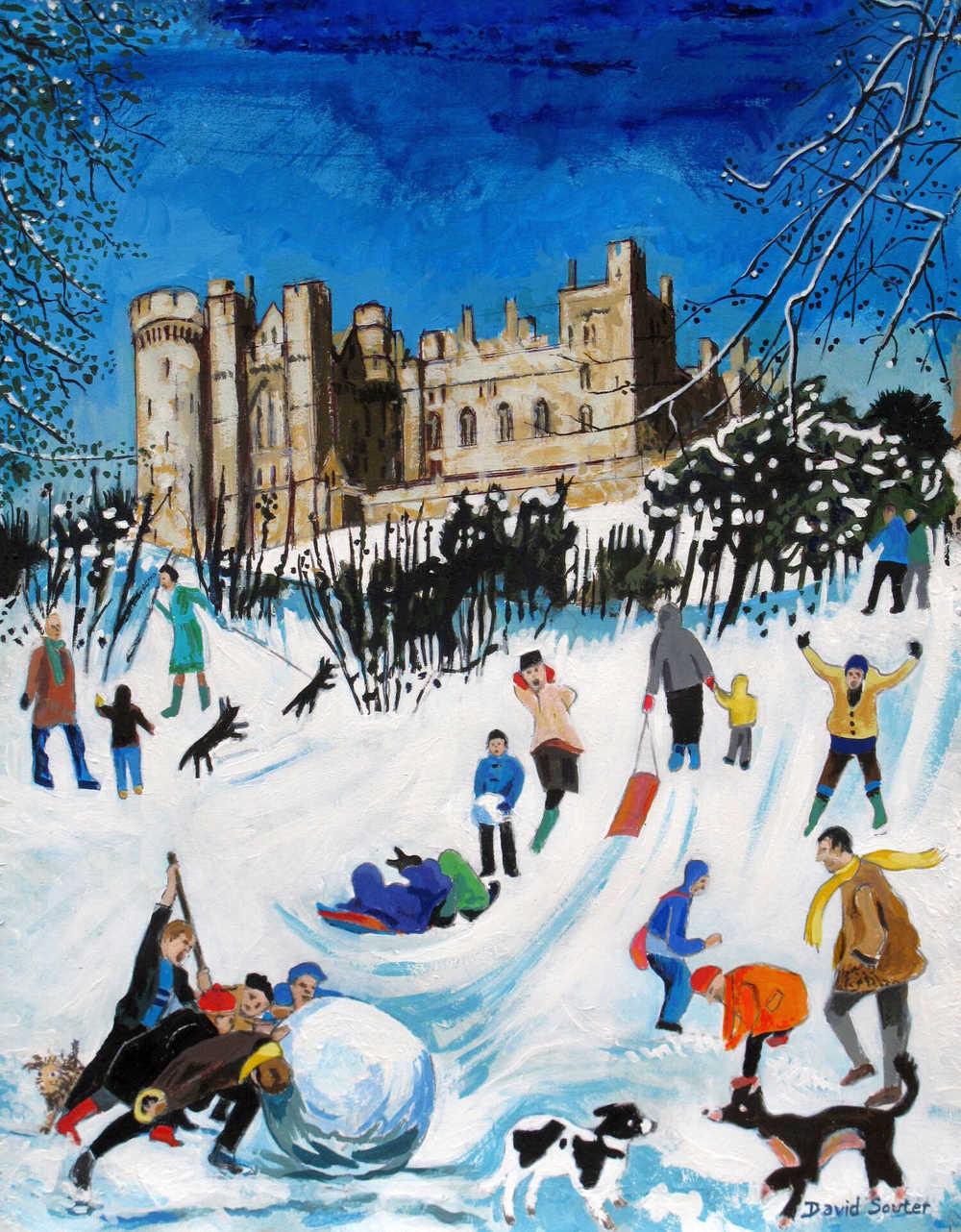 Snow play Arundel