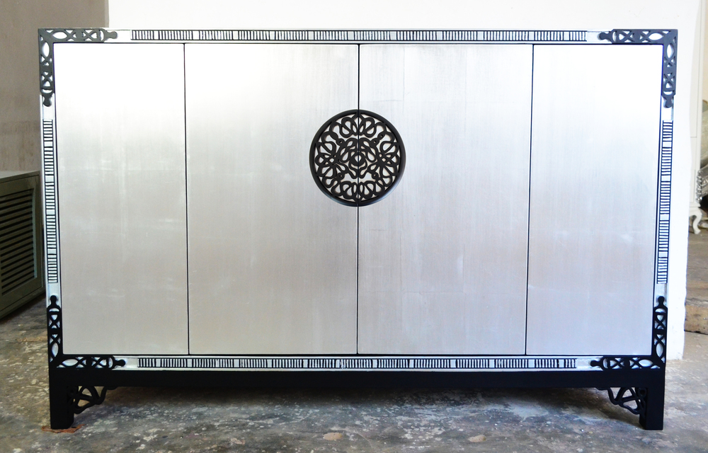 Silver Bar Cabinet