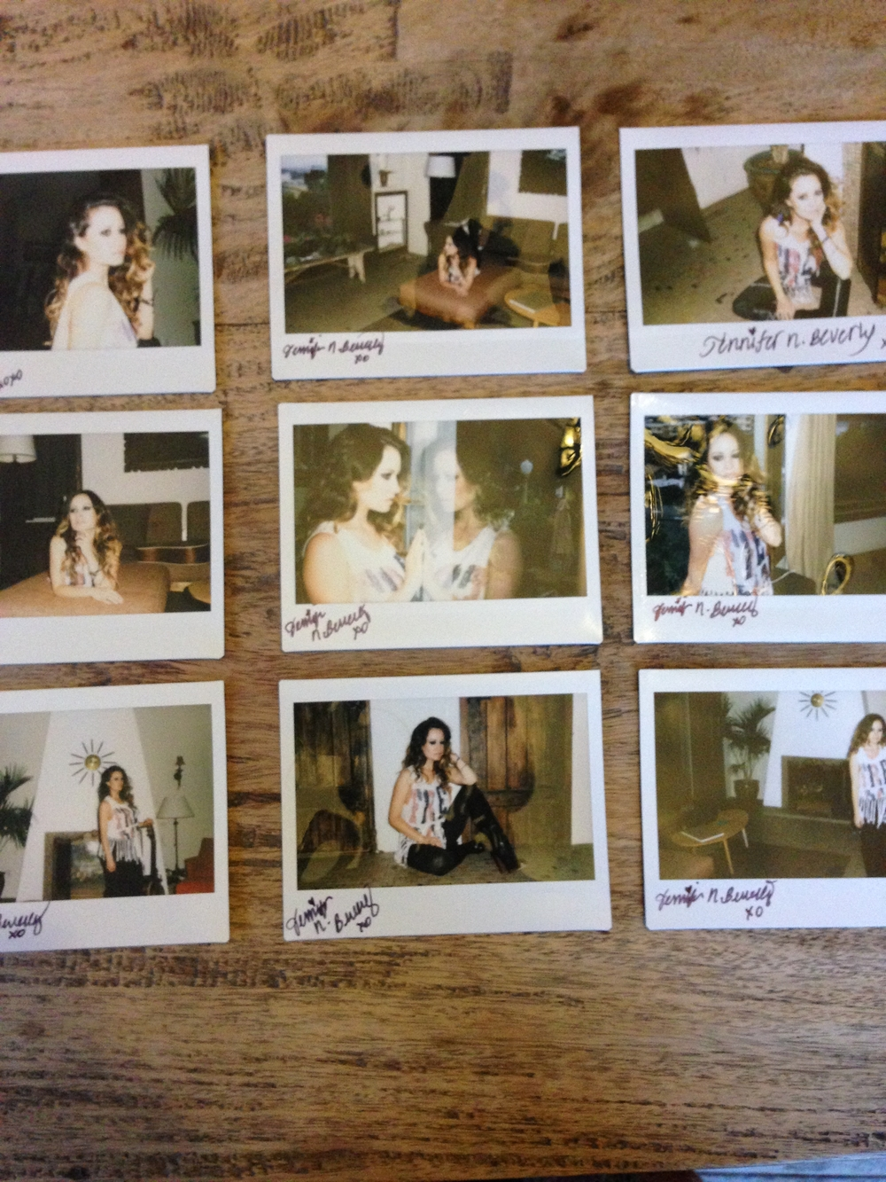 Polaroids of a few of the looks we shot . xoxo