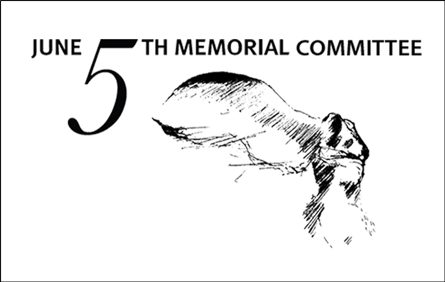 "jUNE 5TH MEMORIAL LOGO, ""Winged Victory"" last sketch made by Anne Bryan (June 4th, 2013)."