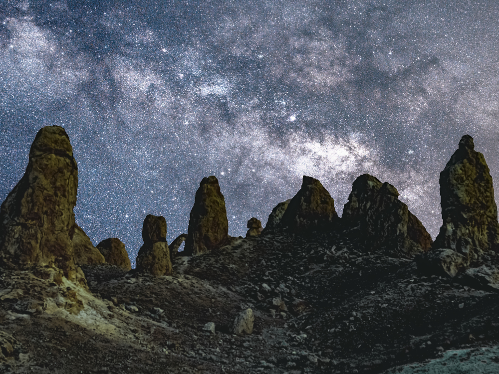 Milky Way Rises Over The Trona Pinnacles