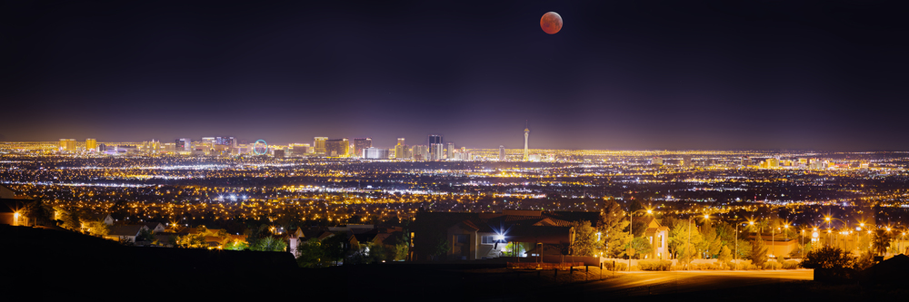 April 4, 2015 Lunar eclipse over Las Vegas, NV.
