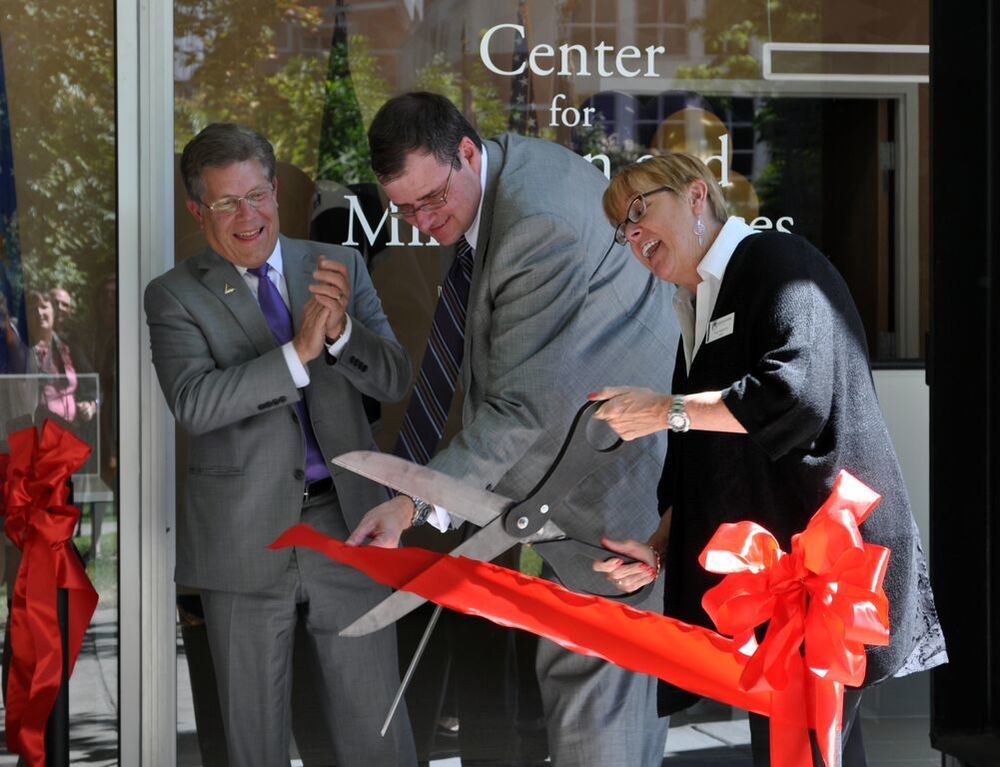 On Friday, Sept. 11 at 1 p.m., an opening ceremony was held where Adamson and Moyle, two essential donors for the new center, snipped the ribbon and welcomed everyone to explore Westminster's newest addition to campus.