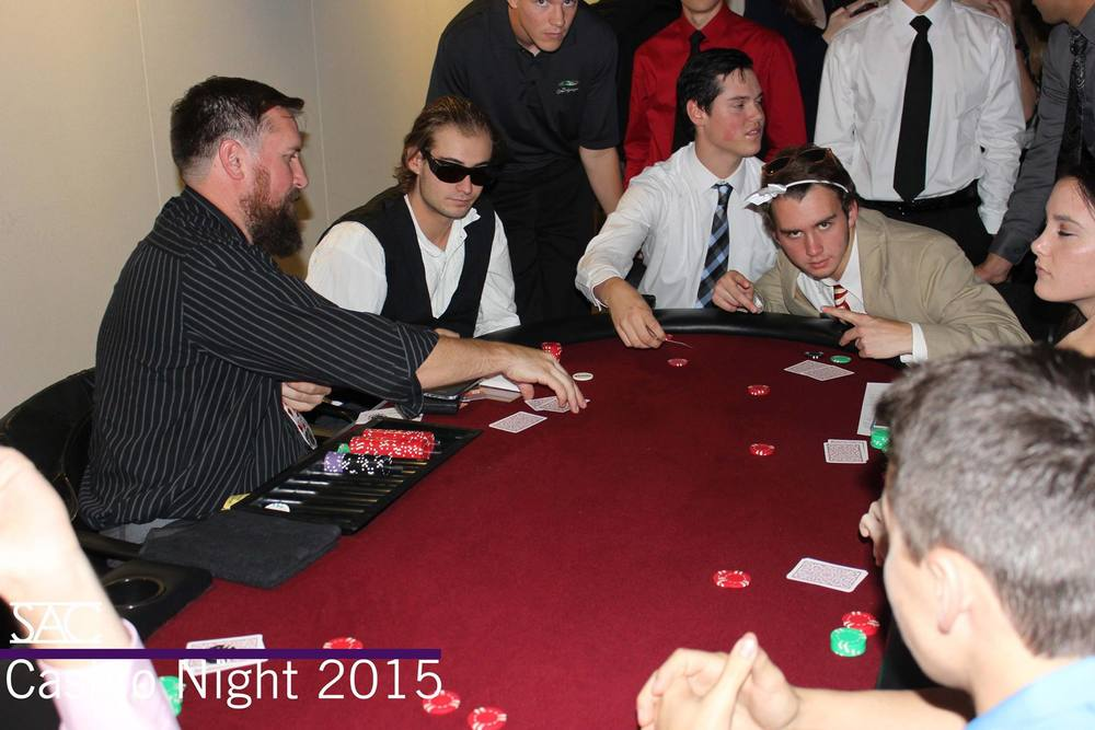 "Westminster students ""gambling"" at Casino Night. Although Utah has strict gambling laws, because students give nothing of value to participate in the evening, the event does not violate any restrictions."