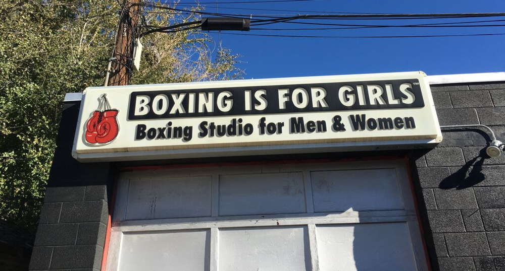 Boxing is for Girls is a small boxing gym located in an abandoned garage on 1100 East. Today, BIFG trains more than just boxing, focusing and weights and cardio. Photos by Alexander Farrell