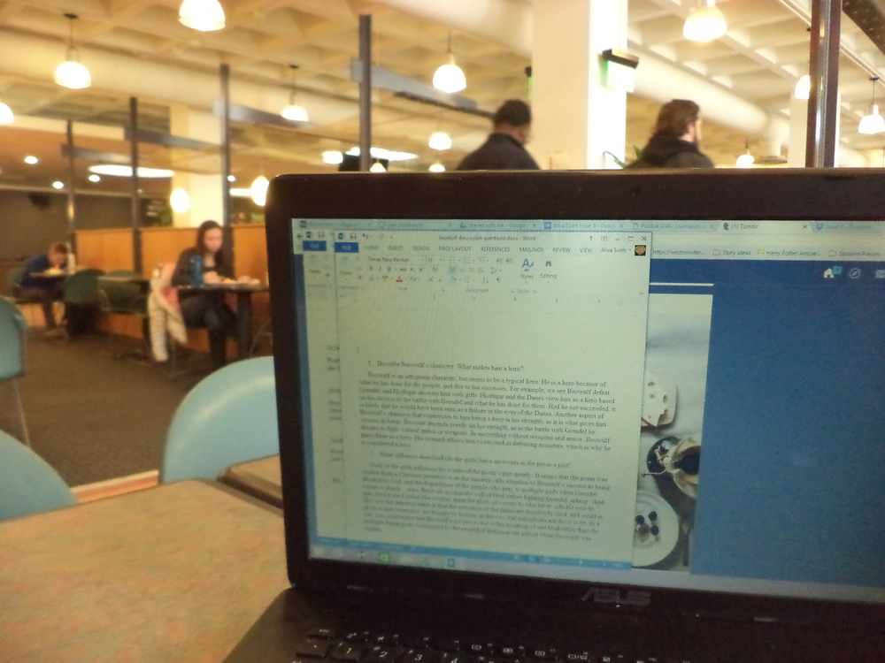 A multitasker's computer screen has multiple webpages and word documents open while in the Shaw Student Center. Researchers have found that multitasking, especially multitasking with media, is less productive that competing one task at a time.
