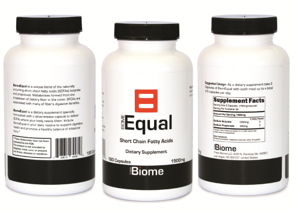 Biome EqualThe only Complete postbiotic supplement! - You've probably heard of prebiotics and even probiotics, but what are postbiotics?Postbiotics are the crucial short-chain fatty acids made from dietary fiber by the healthy bacteria in your colon. Short chain fatty acids are a crucial component of digestive health.If you can't eat fiber you're probably deficient in short chain fatty acids.